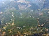 地球高视图的全景图 — 图库照片