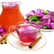 Punch cocktail tea drink with wild rose and cinnamon — Stock Photo