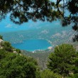 Panorama of blue lagoon and beach oludeniz turkey - Stock Photo