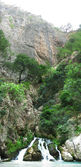 Vattenfall ur grottan saklikent fethiye — Stockfoto