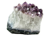 Amethyst quartz geode geological crystals — Stock Photo