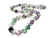 Fluorite semigem crystals beads — Stock Photo
