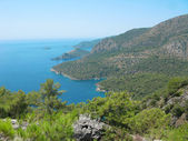 Coastline landscape of mediterranean sea turkey — Stock Photo