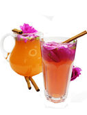 Punch cocktail tea drink with wild rose — Stock Photo