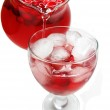 Fruit red punch cocktail drink with cherry — Stock Photo #17371913