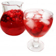 Fruit red punch cocktail drink with cherry — Stock Photo #17371917
