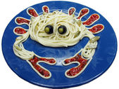 Creative pasta food crab shape — Stock Photo