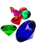 Emerald sapphire ruby topaz gem stones crystals — Stock Photo