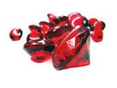 Czerwony rubinowy klejnot kamienie, kryształy — Zdjęcie stockowe