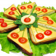 Stock Photo: Creative vegetable sandwich with cheese