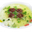 Vegetable soup with meat and pea - Stockfoto