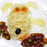 Creative pasta food dog shape — Stock Photo #25911831