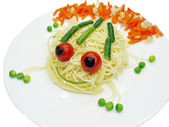 Creative pasta food frog shape — Stock Photo
