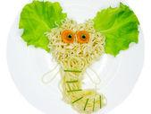 創造的なパスタ料理象図形 — ストック写真
