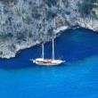 Yacht in mediterranean sea fethiye turkey — Stock Photo #31051645