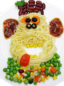 Creative pasta food monkey shape — Stock Photo