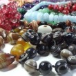 Semigem necklaces and beads jewelery as fashion background — Stock Video #33626891