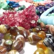 Semigem necklaces and beads jewelery as fashion background — Stock Video #33627953