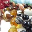 Semigem necklaces and beads jewelery as fashion background — Stock Video #33629631