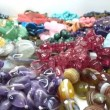 Semigem necklaces and beads jewelery as fashion background — Stock Video #33640853