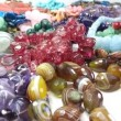 Semigem necklaces and beads jewelery as fashion background — Stock Video #33643039