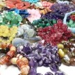 Semigem necklaces and beads jewelery as fashion background — Stock Video #33645963