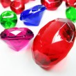Ruby sapphire emerald topaz gem stones crystals — Photo
