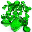 Green emerald gem stones crystals — 图库照片