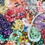 Semigem crystals beads jewellery — Stock Photo #36097113
