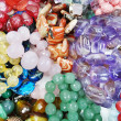 Semigem crystals beads jewellery — 图库照片