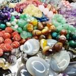 Semigem crystals beads jewellery — Stock Photo