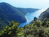Coastline landscape of mediterranean sea turkey — Stock Photo