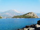 Coastline landscape of mediterranean sea turkey — ストック写真