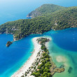 Panorama of blue lagoon and beach oludeniz turkey — Stockfoto