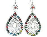Jewelry earrings with bright crystals — ストック写真