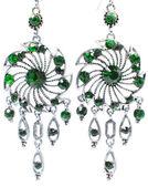明るい結晶と宝石イヤリング — ストック写真