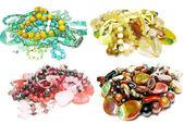 Mucchio di gioielli di perline semigem — Foto Stock