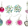 Bright earrings jewelry — Stock Photo
