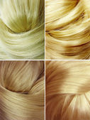 Blond hair texture background — Stock Photo