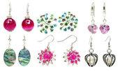 Bright earrings jewelry — Stock Photo