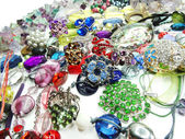 Crystals beads jewellery as fashion background — 图库照片