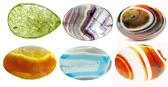 Semiprecious crystals geological minerals set — Stock Photo