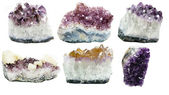 Amethyst geode geological crystals  — Stock Photo