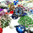 Crystals beads jewellery as fashion background — Stock Photo #46959001