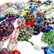 Crystals beads jewellery as fashion background — Stock Photo #46959519