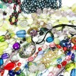 Crystals beads jewellery as fashion background — Stock Photo #46959541