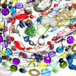 Crystals beads jewellery as fashion background — Stock Photo #46959787