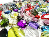 Crystals beads jewellery as fashion background — ストック写真