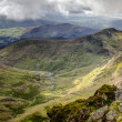 River from snowdon — Stock Photo