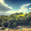 Stock Photo: View of north wales countryside,
